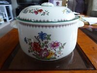 Spode Casserole Dish with Lid Chinese Rose