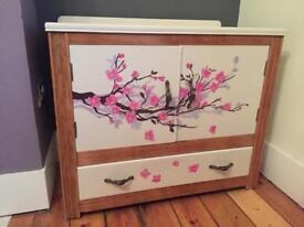Upcycled vintage cupboard