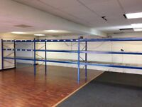 4 BAYS HI-LO INDUSTRIAL LONGSPAN SHELVING 2.1 METERS HIGH AS NEW!! ( PALLET RACKING , STORAGE)