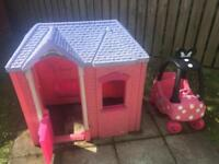 Little tikes playhouse and cosy coupe