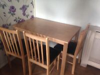 Dining table 2 chairs! £20