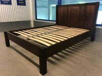 Elegant dark king size low foot bed frame, great condition, can deliver