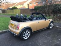 Mini Cooper convertible with mot till march 2018