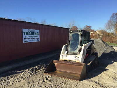 2011 Terex Pt50 Compact Track Skid Steer Loader W Cab Cheap