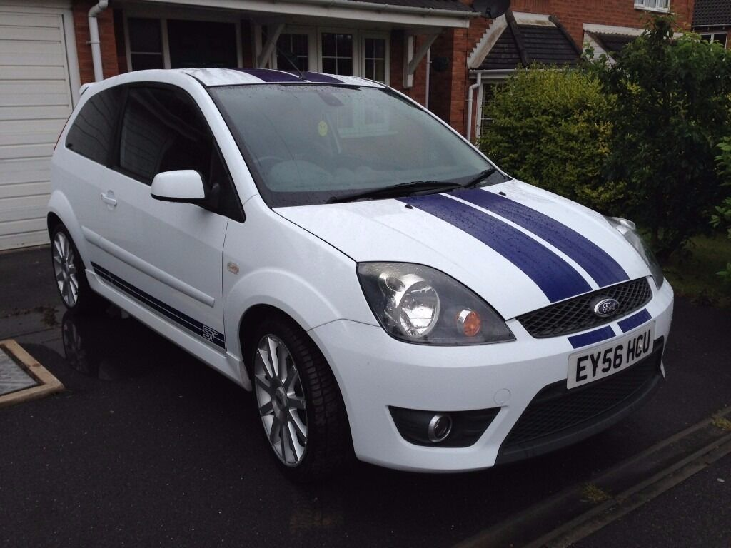 ford fiesta st 2006 white full leather heated seats heated windscreen 11 months mot in. Black Bedroom Furniture Sets. Home Design Ideas
