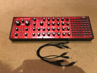 Behringer Neutron Semi Modular Synth with patch cables