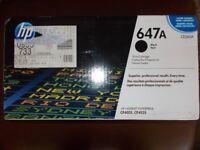 Last one !!!Genuine Black HP 647A Toner Cartridge - (CE260A)
