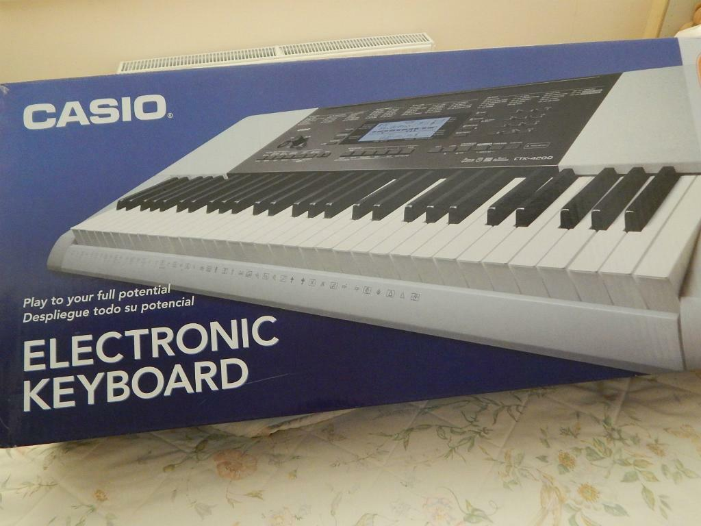 Casio Ctk 4200 Electronic Keyboard With Stand And Stool