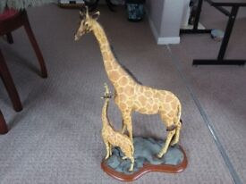 GIRAFFE AND BABY ORNAMENT/FIGURINE#22 inches HIGH##EXCELLENT CONDITION