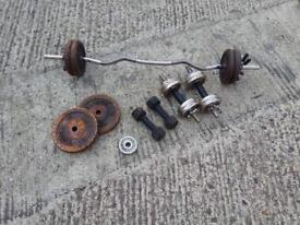 Free weights, dumbbell + barbell bundle