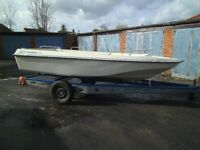 dory style coast worker 4m jet boat ,less engine and jet drive,ideal winter project,,,