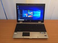 HP ELITEBOOK i7 - Windows 10 pro laptop