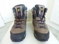 Mens Jack Wolfskin Leather Winter Walking Boots Size 9.5 Brown & Black
