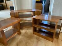 Tv / DVD player unit + dvd storage units & matching side table