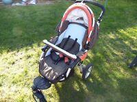 Jane Slalom Pro Pushchair with Matrix Pro Baby Safe System.