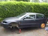 Honda civic EG shell, was running a B18C4 vtec engine. B16 B18 k20 h22 eg ek vti sir lsi esi
