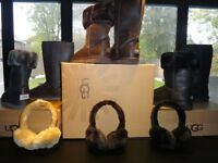 UGG BOOTS CLASSIC TALL 5815 LEATHER EFFECT GENUINE EVA SOLE! + UGG EAR MUFFS brand new! SALE!