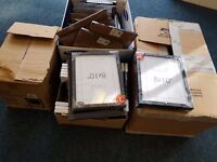 PICTURE FRAMES 126 8x10inch black frames. Only used once. Many still in packaging. £50