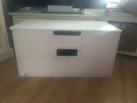 White Wood Toy Box