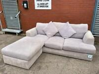 Next grey corner sofa delivery 🚚 sofa suite couch furniture