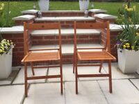 Pair of Wooden Folding Chairs