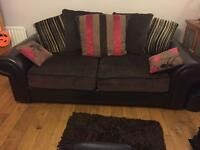Two seater sofa and matching curtains