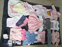 Bundle of baby clothes for girl, 3-6 months (31 items)