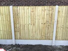 🔨🌟Vertical Board Top Quality Pressure Treated Fence Panels Flat Top