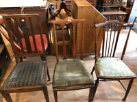 Mixture of Wooden Seats - Chairs £30 each - Various styles Must be seen