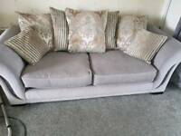Grey 3 seater and snuggle chair