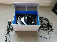 Sony ps4 VR headset bundle with 4 games and 2 motion controllers