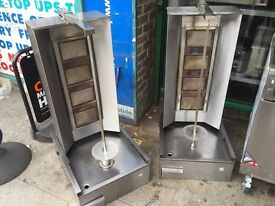 USED CATERING COMMERCIAL GAS 4 BURNER KEBAB GRILL MACHINE CAFE RESTAURANT CHICKEN SHOP