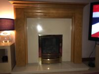 Gas fire, Harth and surround