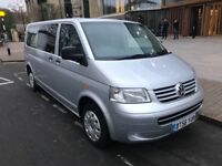 VW TRANSPORTER T5 SHUTTLE 9 SEATER LWB 2.5TDI AUTO 130BHP TOP OF THE LINE