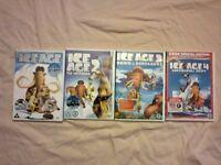 Ice Age DVD's. Films 1-4