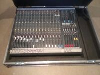 Allen and Heath 20 channel mixing console with road case