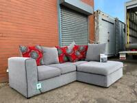 Stunning SCS grey Corner sofa ex display delivery 🚚 sofa suite couch furniture