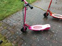 Pink, Razor E100 Electric Scooter