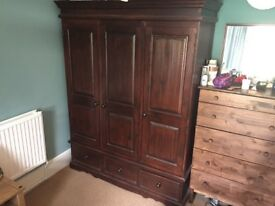 Beautiful dark wood wardrobe