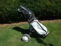 SET PETRON GOLF CLUBS + BAG + TROLLEY, INCLUDING ACCESSORIES - very good condition