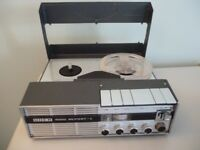 "quality uher 4000 report L,four speed reel to reel tape recorder & mains power supply,plays 5"" tapes"