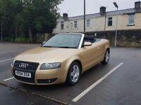 Audi A4 convertible 12 months MOT no advisory 1.8t petrol