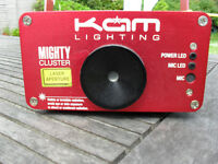 Laser Light KAM MIGHTY CLUSTER sound activated DJ light with remote control and two keys
