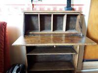 Antique wooden desk bureau. Fairly small.