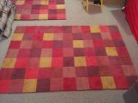 Carpets (x2) John Lewis Cranberry colour (red mostly)