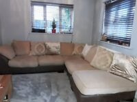 Large comfy corner sofa from DFS