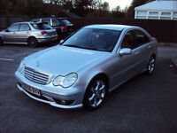 MERCEDES C-CLASS C220 2.1 CDI SPORT EDITION AUTOMATIC FACELIFT LEATHERS EXTRAS SERVICE HISTORY+MOT