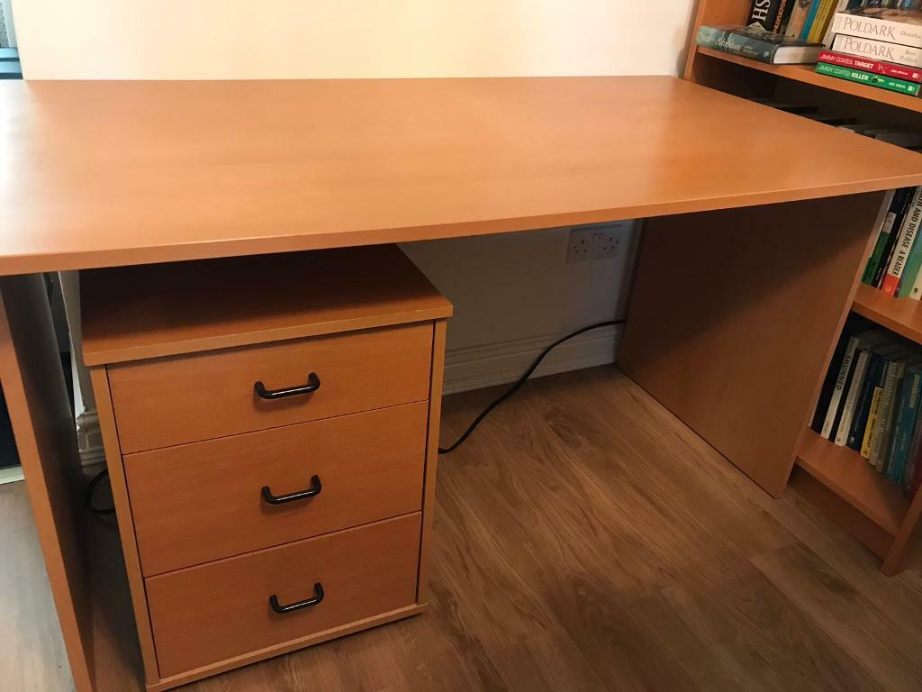 Admirable Ikea Computer Large Desk With Ikea 3 Drawer Under Desk Cabinet In Radcliffe Manchester Gumtree Beutiful Home Inspiration Truamahrainfo