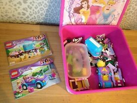 2x Lego Friends sets 3186 (Emmas Horse trailer) and 3183 (Stefanie's cool convertible)
