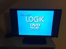 "24"" Logik LED TV/ DVD / Monitor Built In Free view Tuner."